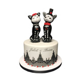 Day of the Dead Cats Cake