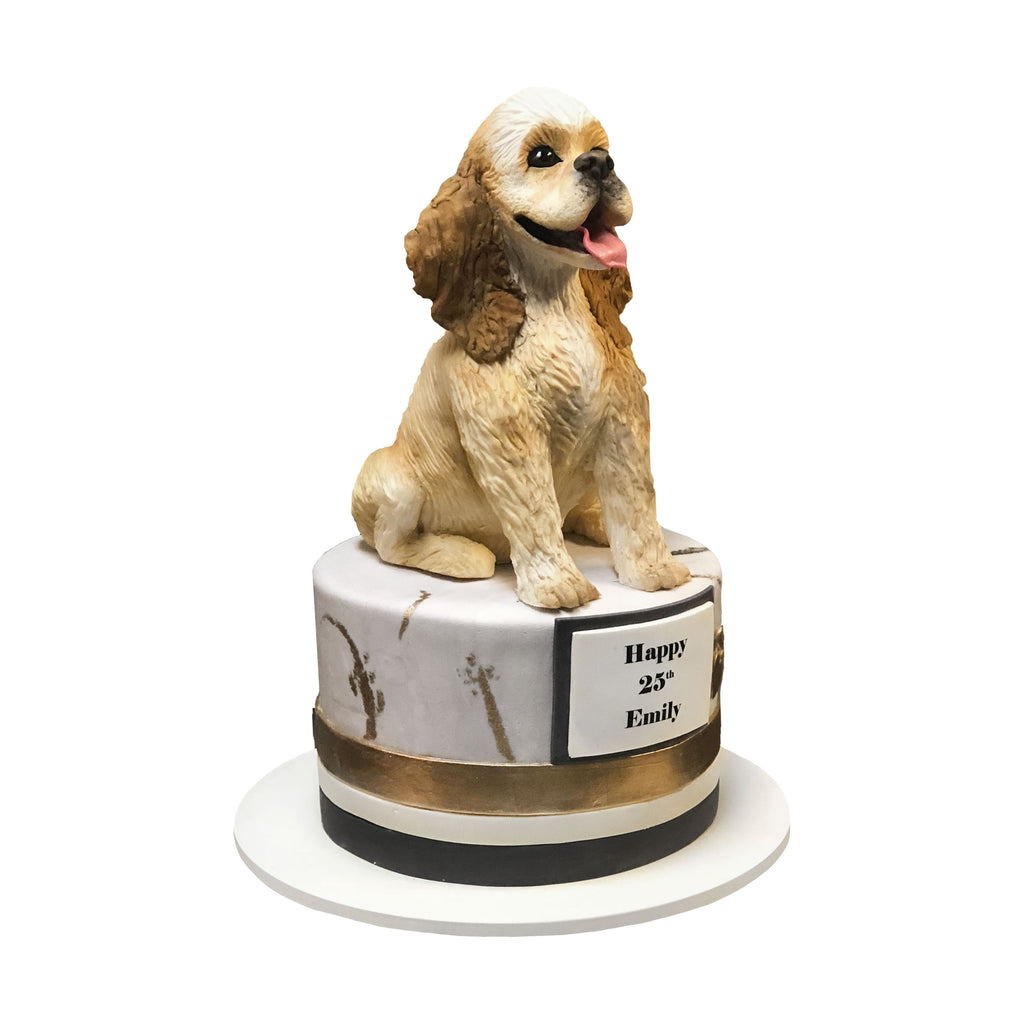 The Golden Puppy Cake