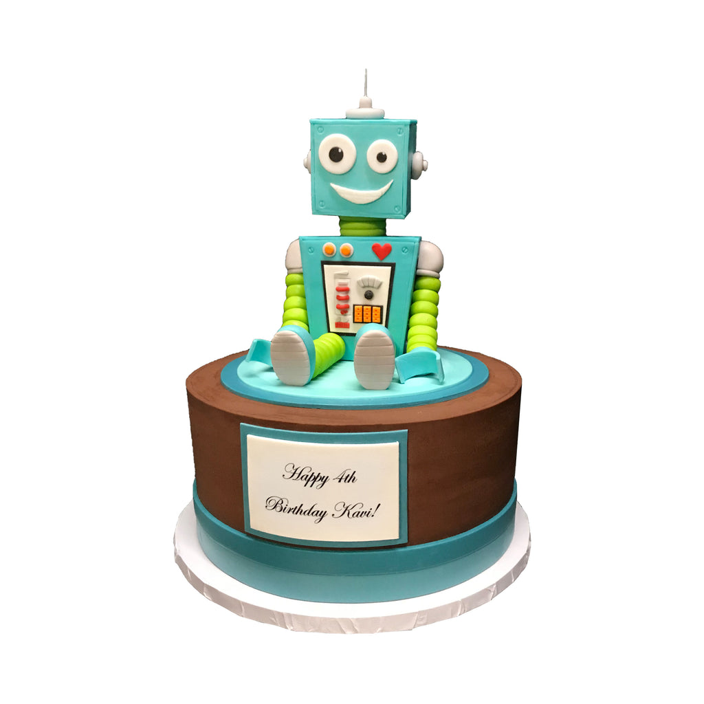 Beating Heart Robot Cake