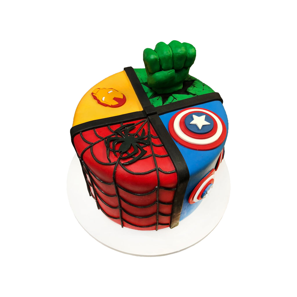 Fantastic Marvel Quad Cake City Cakes Personalised Birthday Cards Veneteletsinfo