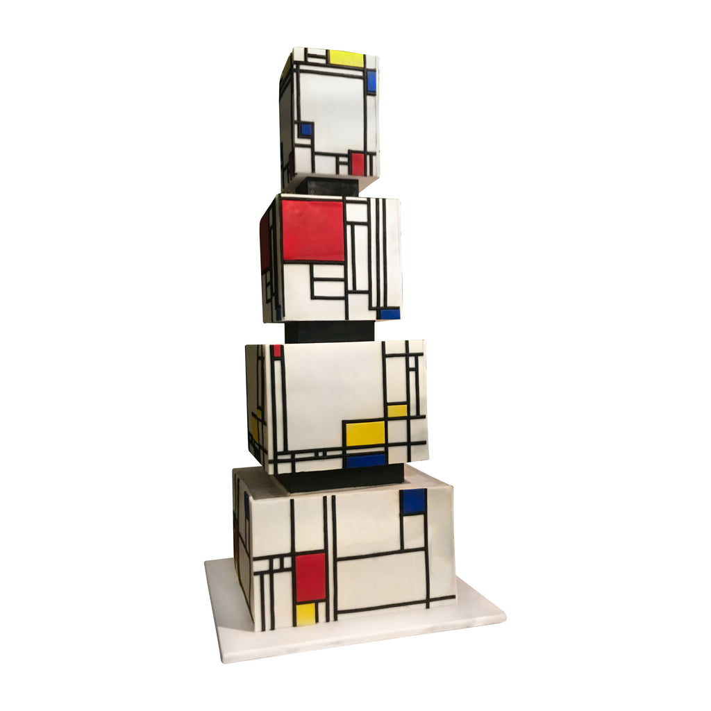 beautiful representation cake made of four tiers of edible art