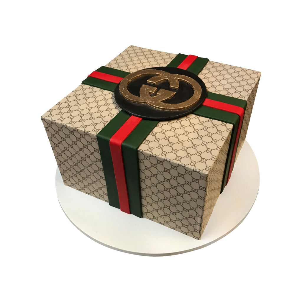 Handsome Gucci Gift Box Cake \u2013 City Cakes