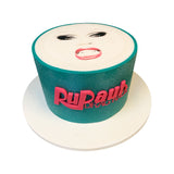 Ru Paul's Drag Face Cake