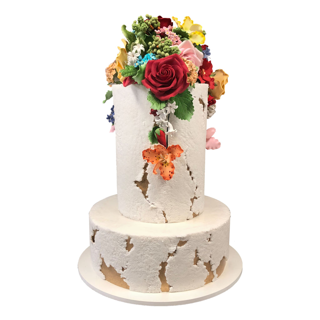 Floral and Texture Beauty Wedding Cake by City Cakes in New York City
