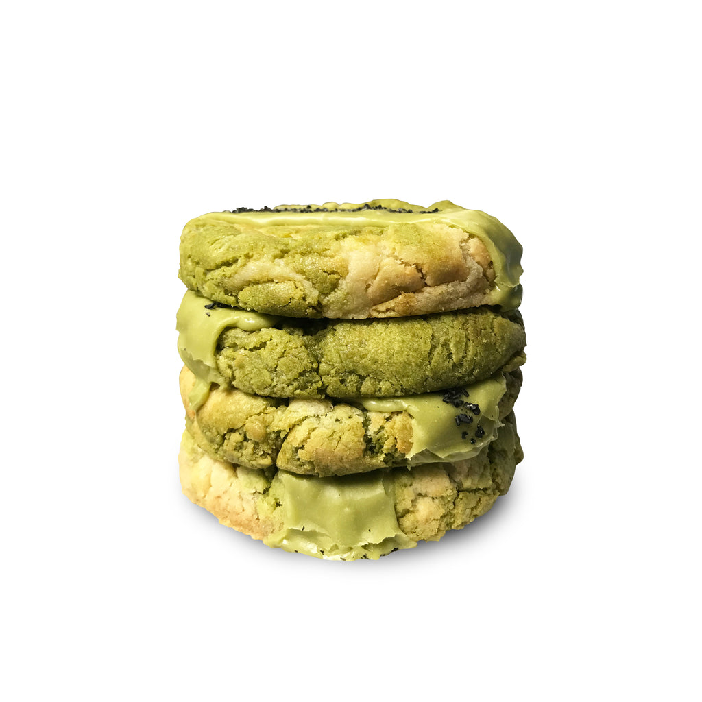 Almond Matcha Wonder Half Pound Cookies (GFI) - 4 Pack