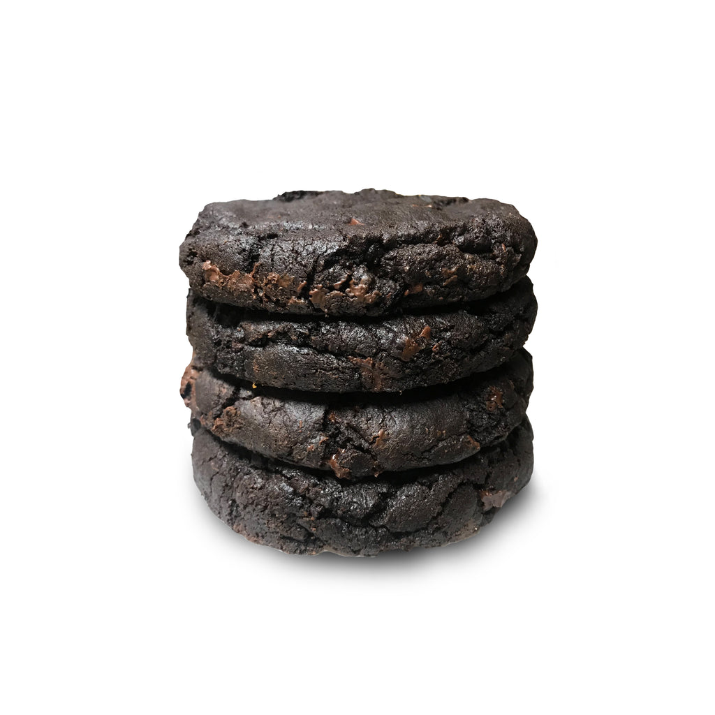 """Dark Horse"" Salted Double Chocolate Chip Half Pound Cookies - 4 Pack"