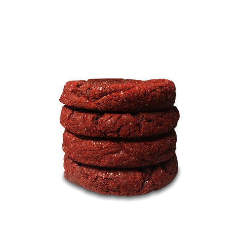 "Stuffed Red Velvet ""Hearts"" Edition Half Pound Cookies - 4 Pack"