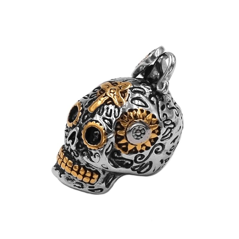 collier tete de mort mexicaine | Boutique biker