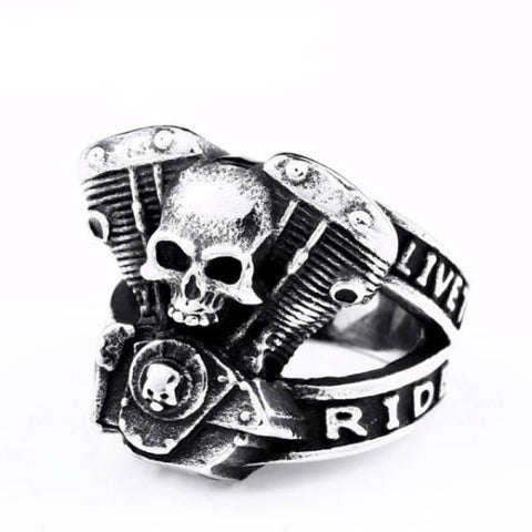 Bague Live To Ride | Boutique biker