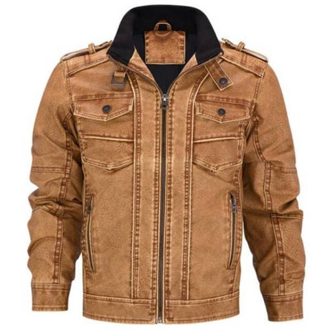 Blouson Biker Marron | Boutique biker