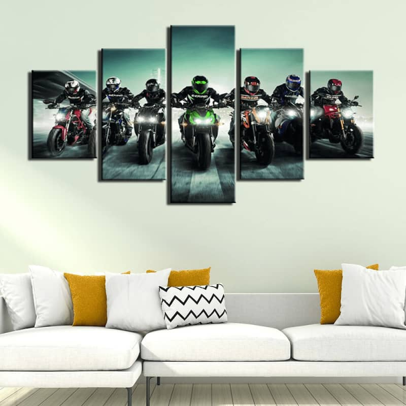 Grand tableau decoratif | Boutique biker