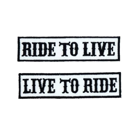 Ride To Live Patch | Boutique biker