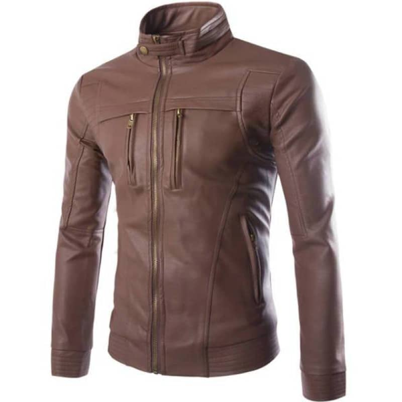 Veste Biker Marron | Boutique biker