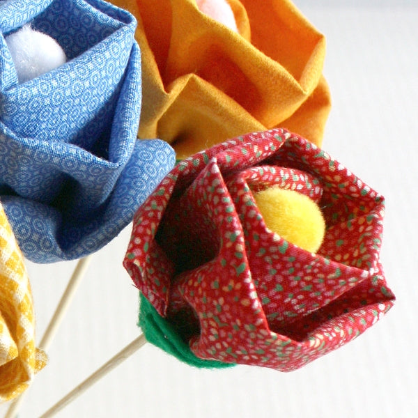 How To: Easy Fabric Flowers