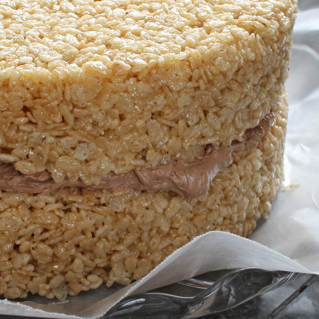 Rice Krispie Treat Surprise Cake