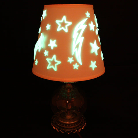 How To: Glow in the Dark Star Lamp Shade