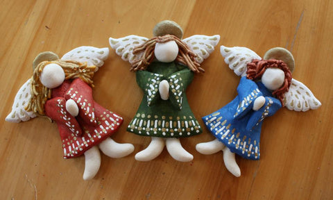 DIY salt dough Christmas angels