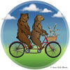 Bears on a Bike Tote Bag