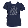 Sasquatch t-shirt women navy