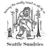Sasquatch t-shirt artwork