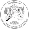 Slippery Slope retro label illustartion, original artwork by Seattle Sundries, copyrighted