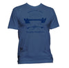 Rowing t-shirt unisex blue