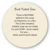 Buck naked Soap insert story card