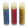three tubes of Smooch Stick® natural lip balm