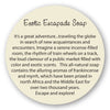 Exotic Escapade Soap insert story card