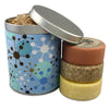 three round bar soaps in color burst gift tin