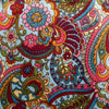 multicolor paisley fabric swatch