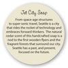 Jet City Soap insert story card