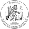 Sasquatch retro label illustration, original artwork by Seattle Sundries, copyrighted