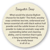 Sasquatch Soap® insert story card