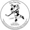 Slap Shot retro label illustartion, original artwork by Seattle Sundries, copyrighted