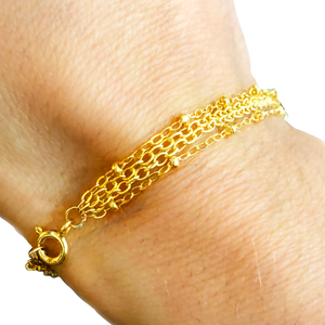 FOUR STRAND BRACELET CHAIN gold filled