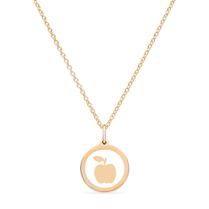 MINI APPLE CHARM 14k gold vermeil
