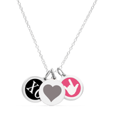 I LOVE YOU NECKLACE sterling silver with rhodium plate