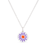 MINI PURPLE DAISY CHARM sterling silver with rhodium plate