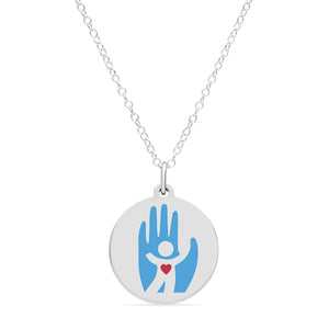 SAVE A CHILD'S HEART CHARM  in sterling silver with rhodium plate