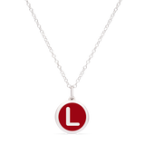 MINI INITIAL 'L' CHARM sterling silver with rhodium plate