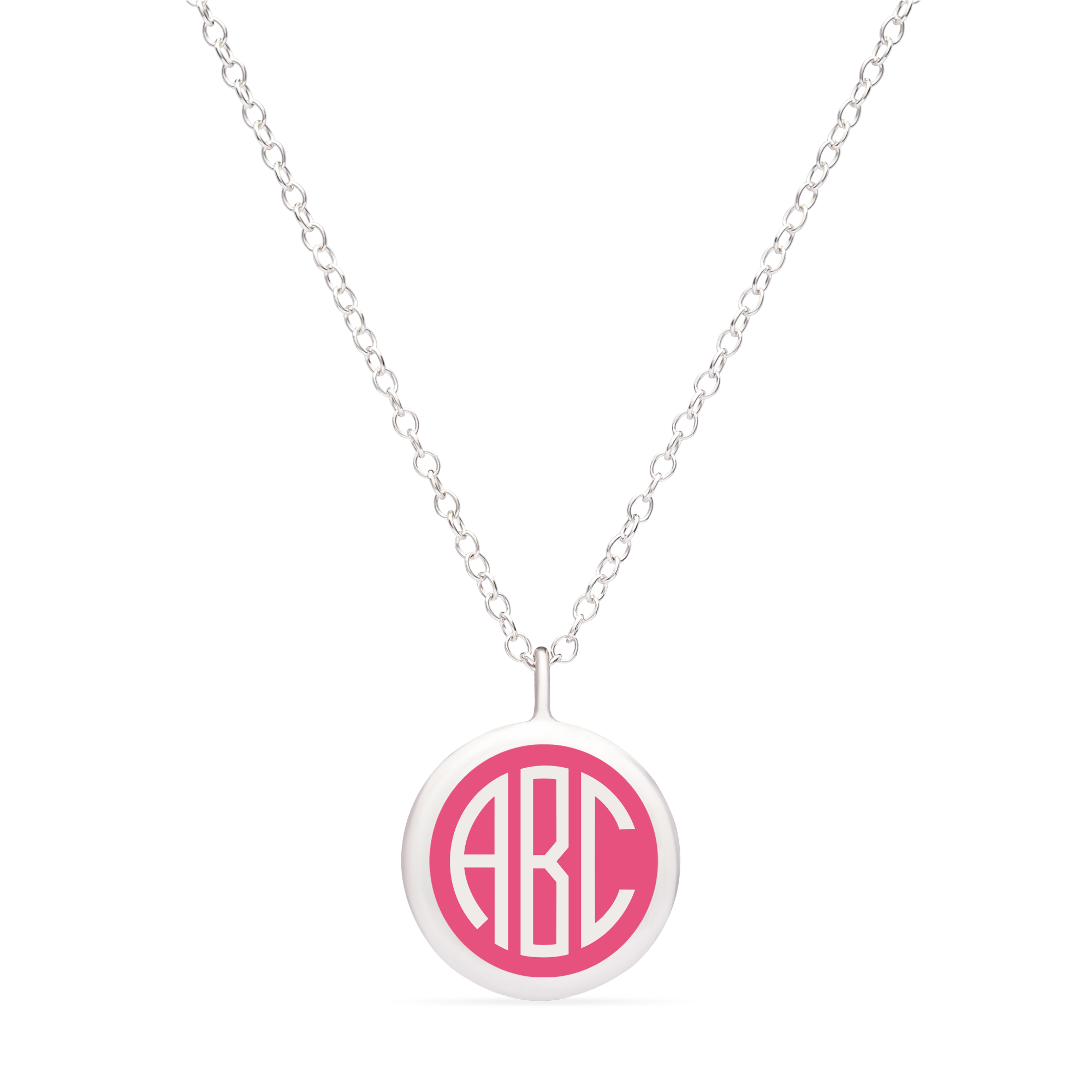 BESPOKE MINI MONOGRAM NECKLACE in sterling silver