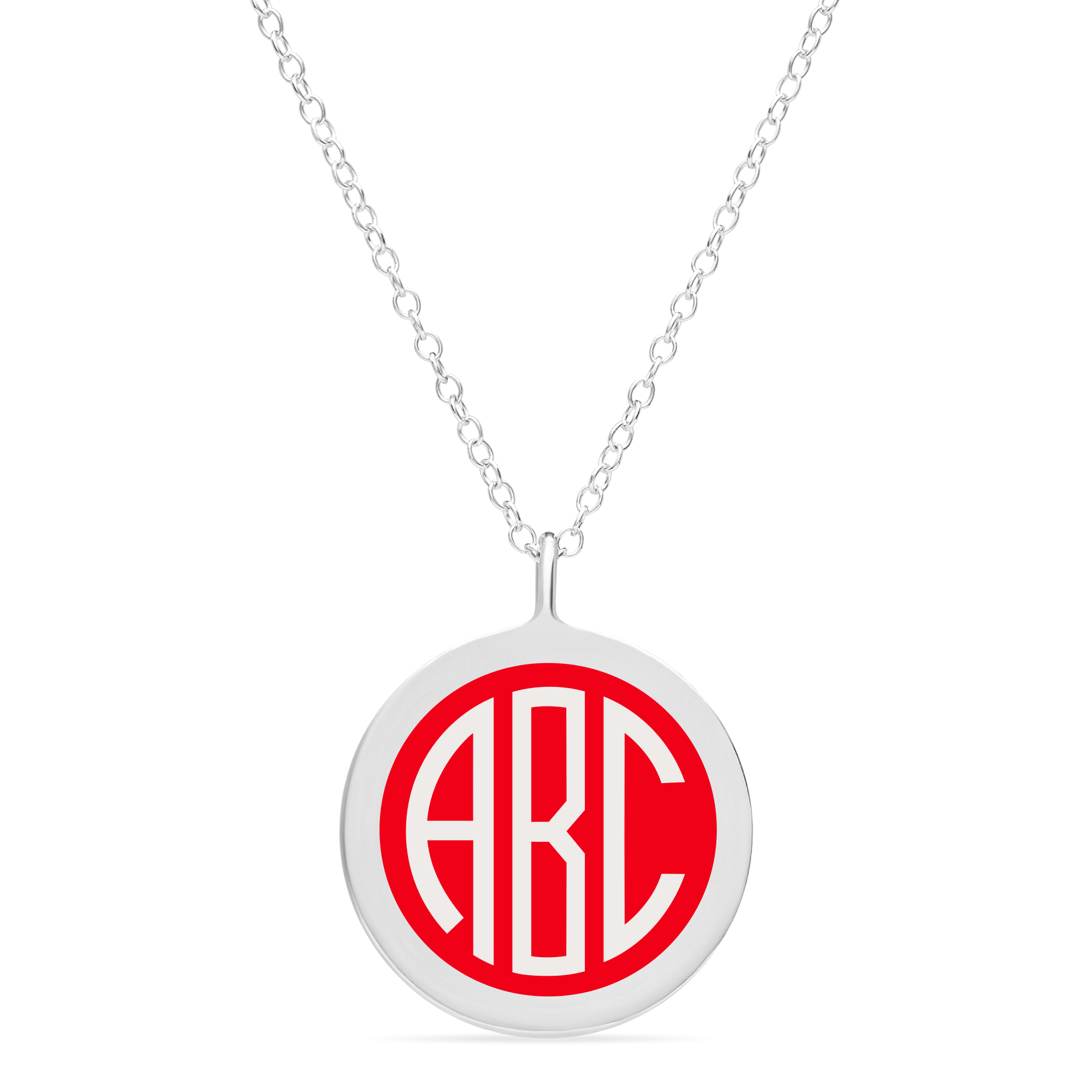 BESPOKE LARGE MONOGRAM CHARM in sterling silver