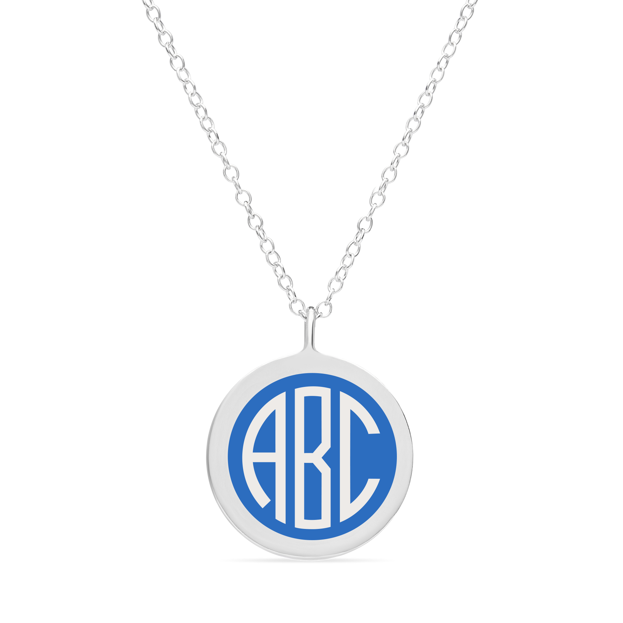 BESPOKE ORIGINAL MONOGRAM NECKLACE in sterling silver