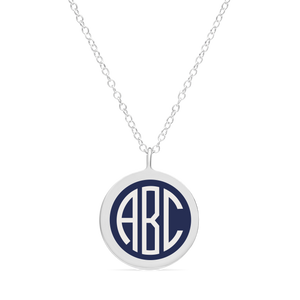 BESPOKE ORIGINAL MONOGRAM CHARM in sterling silver