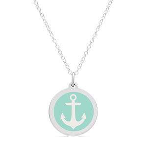 ORIGINAL ANCHOR CHARM in sterling silver with rhodium plate