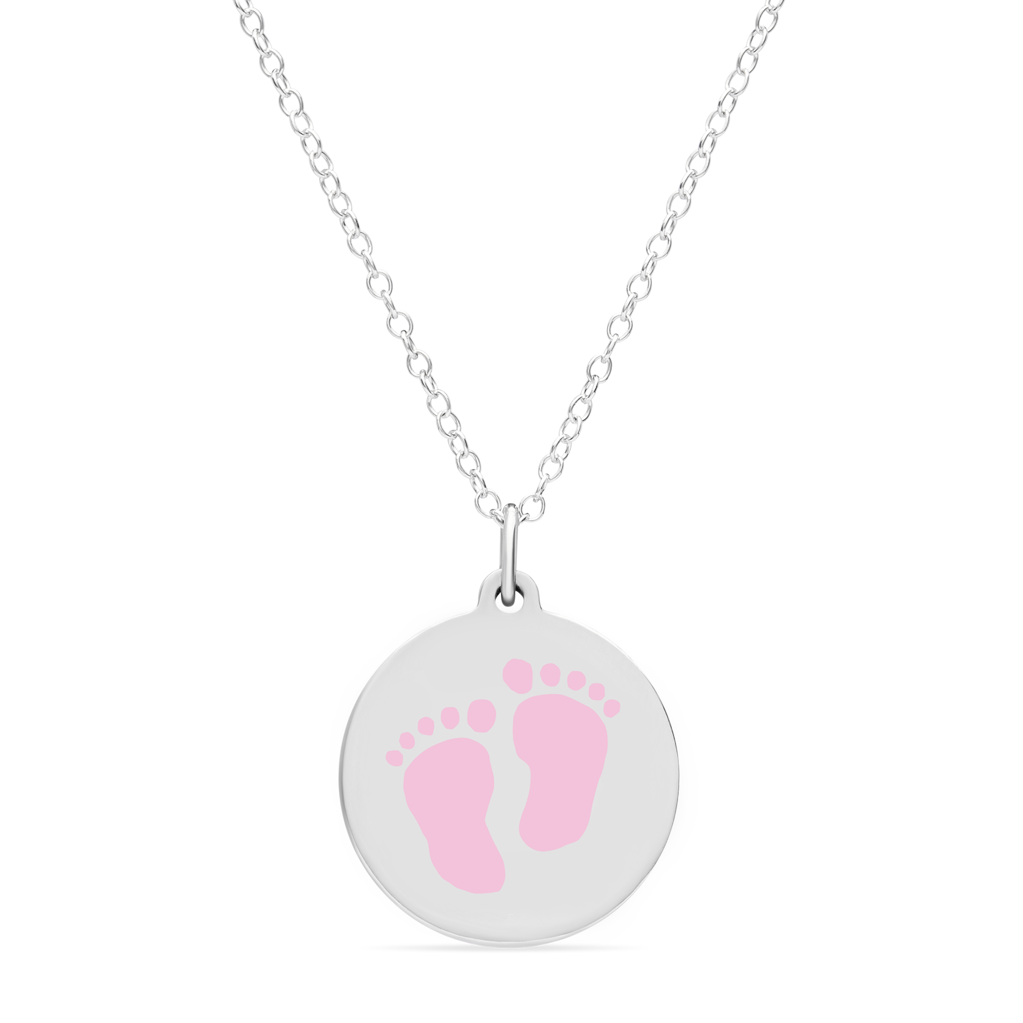 ORIGINAL BABYFEET CHARM in sterling silver with rhodium plate