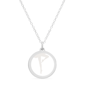 ORIGINAL BALLERINA CHARM in sterling silver with rhodium plate