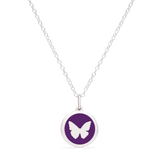 MINI BUTTERFLY CHARM sterling silver with rhodium plate