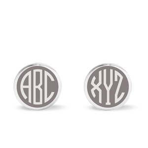 BESPOKE MONOGRAM CUFFLINKS in sterling silver